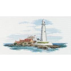 Bothy Threads SEA01  Lumière du matin  Bretagne côtière  Broderie  Point de croix compté