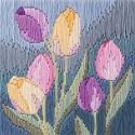 Bothy Threads SLS13  Tulipes  Broderie  Point lancée  fond pré-imprimé