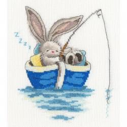Bothy Threads XBB17  Parti pêcher  Broderie  Point de croix compté  Aida 5.4