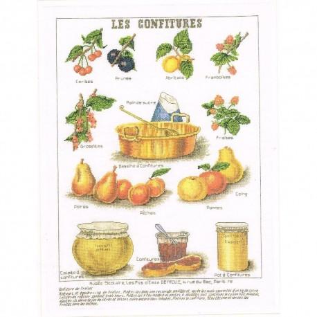 Thea Gouverneur 2081A  Les Confitures  2081A  Broderie  Point de croix compté
