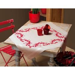 Vervaco 0013113  Nappe pré-imprimée   La décoration rouge