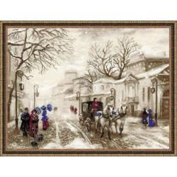 RIOLIS 1400  Ancienne rue  Broderie  Point de croix compté  Aida