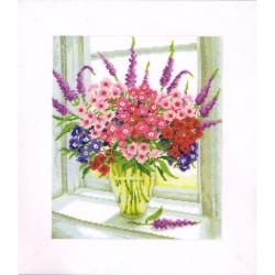 Vervaco 0011785  Vase d'Œillet de poète  Broderie  Point de croix compté