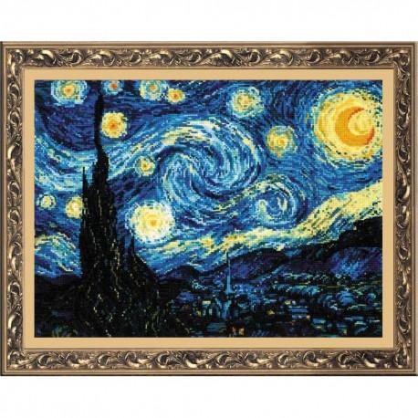 RIOLIS 1088  Nuit étoilée  Van Gogh  Broderie  Point de croix compté  Aida