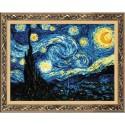 Kit point de croix  Nuit étoilée  de  Van Gogh 1088  Riolis