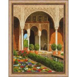 RIOLIS 1579  Le jardin du palais  Broderie  Point de croix compté