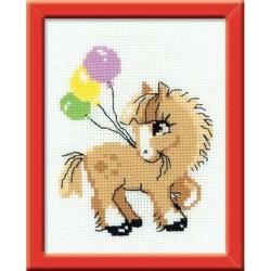 RIOLIS HB093  Pony copain  Broderie  Point de croix compté