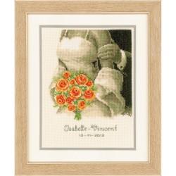 Vervaco 0012176  La mariée aux roses  Broderie  Point de croix compté