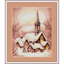 Luca-S  kit broderie  point de croix compté  Village sous la neige B401