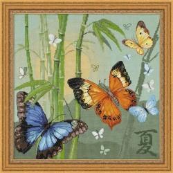 RIOLIS 1336  Papillons  Broderie  Point de croix compté  Aida