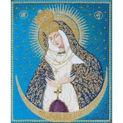 Thea Gouverneur 530A  Icône  Notre-Dame de la porte de l'aube  Point de croix compté  Aida