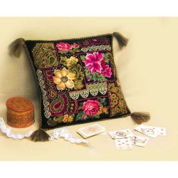 Riolis  kit Coussin Composition florale | Riolis  761 | Broderie du monde