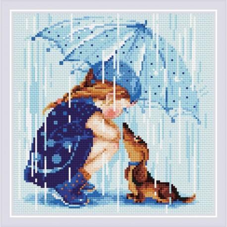 RIOLIS AM0023  Sous mon parapluie  Broderie Diamant