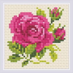 Broderie Diamant  RIOLIS AM0031  Rose rose