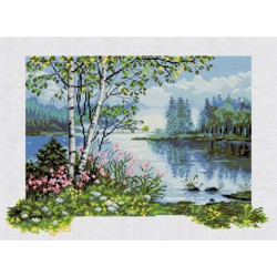 Nova Sloboda  kit By the River  Nova Sloboda  HHD 3004 | Broderie du monde