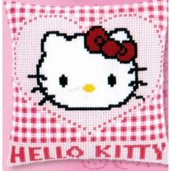Vervaco 0148211  Coussin  Hello Kitty et cœur  Canevas