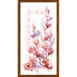 Riolis 1278  Magnolia  Broderie  Point de croix compté