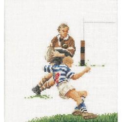Thea Gouverneur 3037A  Rugby  Broderie  Point de croix compté  Aida
