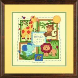 Dimensions | kit  Registre de naissance  savane  Dimensions  70-73543 | Broderie du monde
