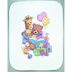 Couverture  piquée  Teddy  et  ses  amis  72915  Dimensions