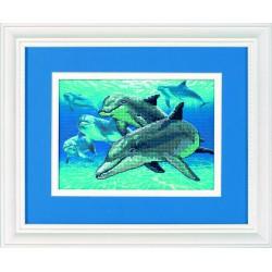 Dimensions | kit  Dauphins de mer profonde  Dimensions  6944 | Broderie du monde