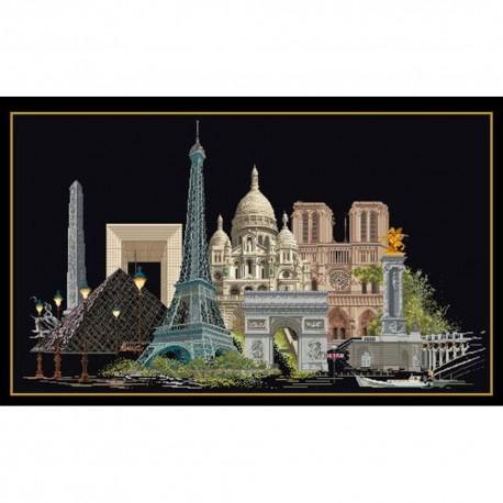 Thea Gouverneur 472-05  Paris  Broderie  Point de croix compté  Aida noire