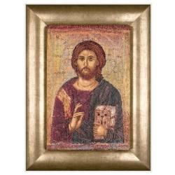 Thea Gouverneur 476A  Icône  Christ Pantokrator  Broderie  Point de croix compté  Aida
