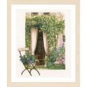 Lanarte 0178458  Fenêtre de jardin  Broderie  Point de croix compté  sur  étamine