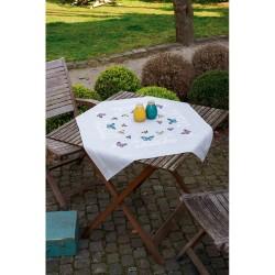 Vervaco 0179025  Nappe imprimé  Danse des papillons  Broderie  Point de croix  imprimé
