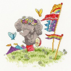 Bothy Threads XEL4  Party Animal  Broderie  Point de croix compté