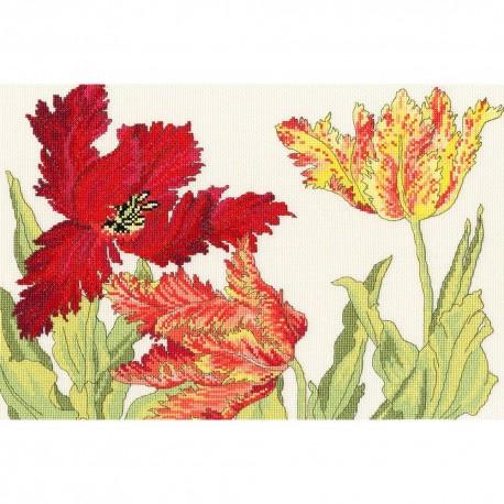 Bothy Threads XBD9  Tulipes  Broderie  Point de croix compté