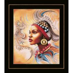 Lanarte 0167128  Femme Africaine  Broderie  Point de croix compté  étamine