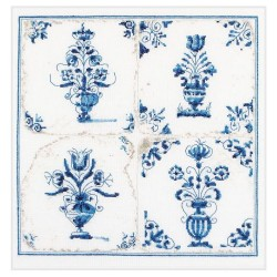 Thea Gouverneur 483  Carreaux Anciennes  Vases à fleurs  Broderie  Point compté  Lin