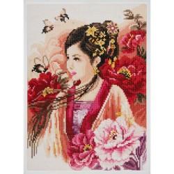 Lanarte 0184323  Dame Asiatique en rose  Peinture Diamant