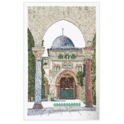 Thea Gouverneur 534  Al-Aqsa  Mosquée  Broderie  Point de croix compté  Lin