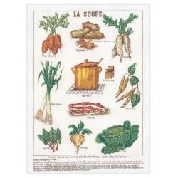 Thea Gouverneur 3027  La Soupe  Broderie  Point de croix compté  Lin
