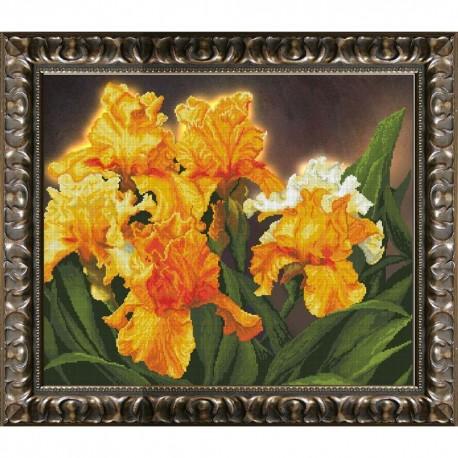 Kit point de croix partielle  Iris jaunes 90912  Krasa i Tvorchist