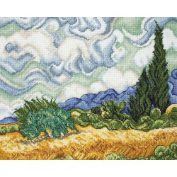 Maia | kit  Wheat field with Cypresses | Maia  5678000-01034 | Broderie du monde
