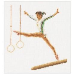 Kit point compté  Gymnastique  La Poutre 3038  Thea Gouverneur