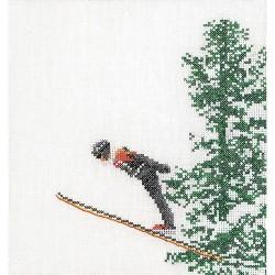Kit point de croix compté  Le Ski 3039  Lin  Thea Gouverneur