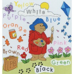 Kit point compté  Paddington Bear Colours Sampler XPB5  Bothy Threads