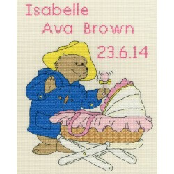 Kit point de croix  Paddington Bear  New Baby Sampler XPB1  Bothy Threads