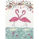 Kit point compté  Love Flamingo XKA9  Bothy Threads