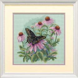 Dimensions | kit  Papillon et marguerites  Dimensions  35249 | Broderie du monde