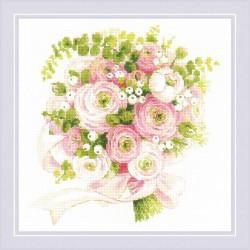 Kit point de croix compté  Bouquet de mariage 1867  Riolis