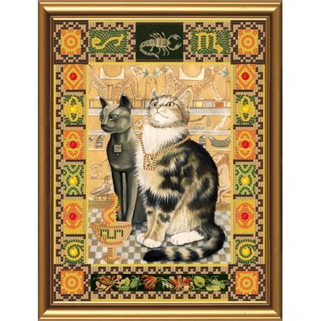 Nova Sloboda  kit Cat from the constellation of  Scorpion  Nova Sloboda  HK 4093   Broderie du monde