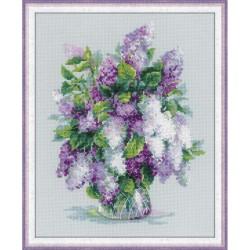 Kit point compté  Bouquet de lilas 1447  Riolis