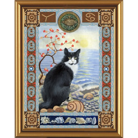 Nova Sloboda  kit Cat from the constellation of  Cancer  Nova Sloboda  HK 4089 | Broderie du monde