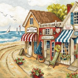 Kit point compté  Boutiques en bord de mer 905  Letistitch