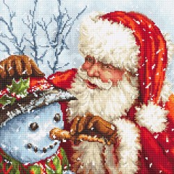Kit point de croix compté  Père Noël et bonhomme de neige 919  Letistitch